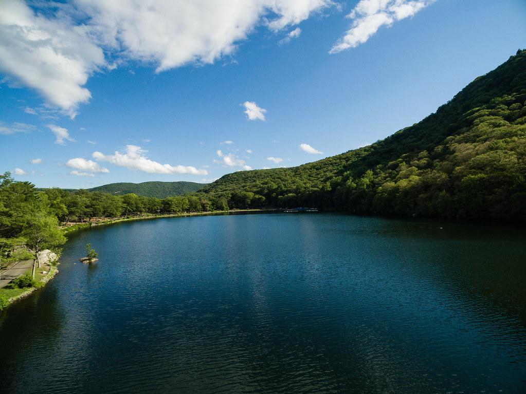 DJI Phantom 3 over Hessian Lake, Bear Mountain State Park by Michael Vadon June 2015