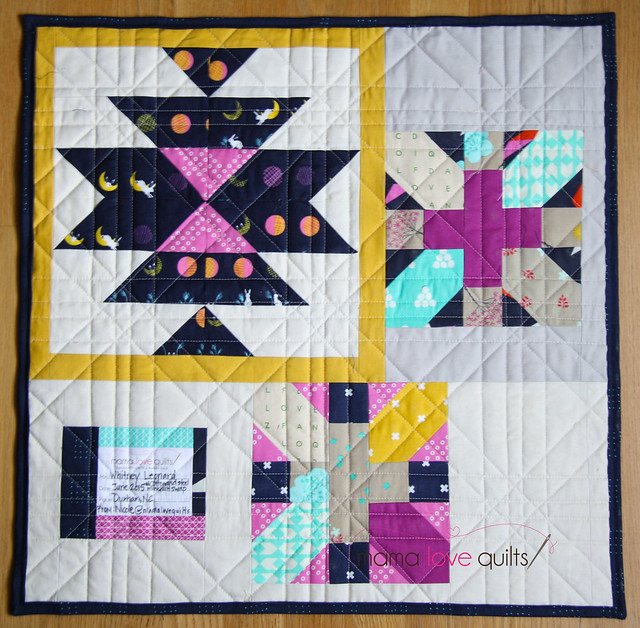 Cotton and Steel Japanese X and + mini quilt_BACK