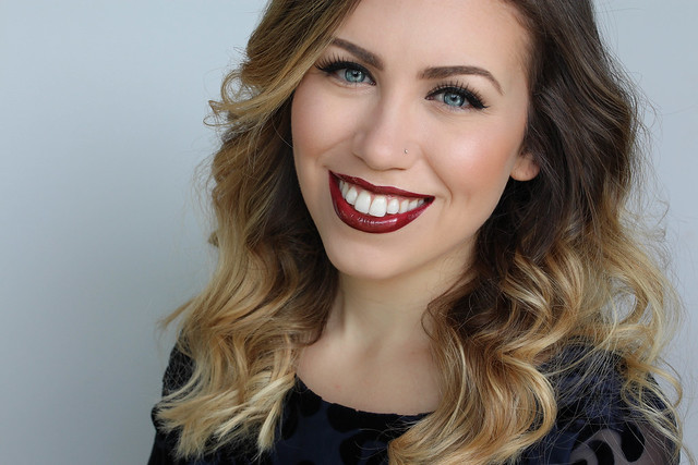 Classic Holiday Makeup with Luminess Air | Soft Neutral Eye Makeup | Bold Glossy Burgundy Lip Color