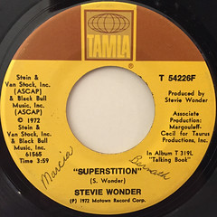 STEVIE WONDER:SUPERSTITION(LABEL SIDE-A)