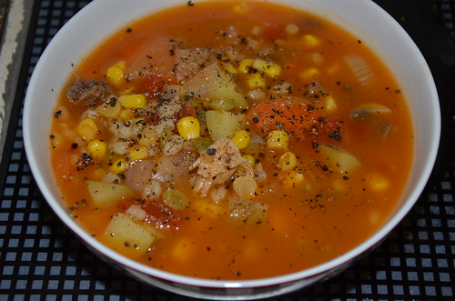 chicken and vegetable soup Jan 17