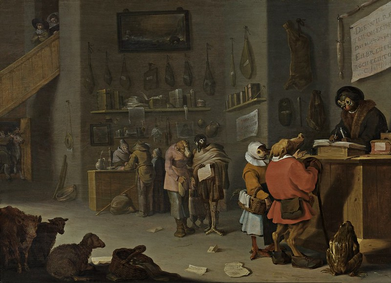 Cornelis Saftleven - Who sues for a cow (1629)
