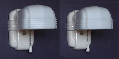Vintage White Porcelain Wall Sconces: *vintage Porcelain Wall Sconces For Bath, Kitchen