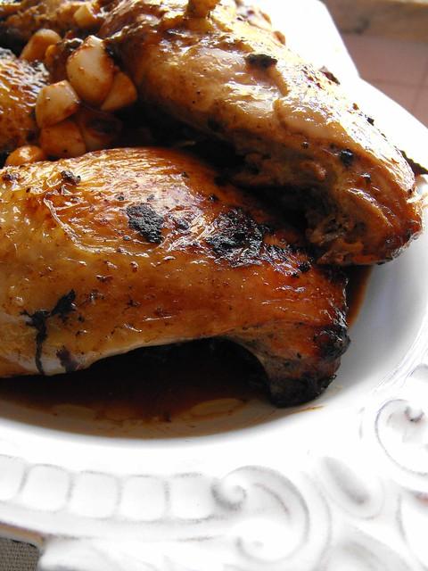 Coxas de frango com mostarda e Porto