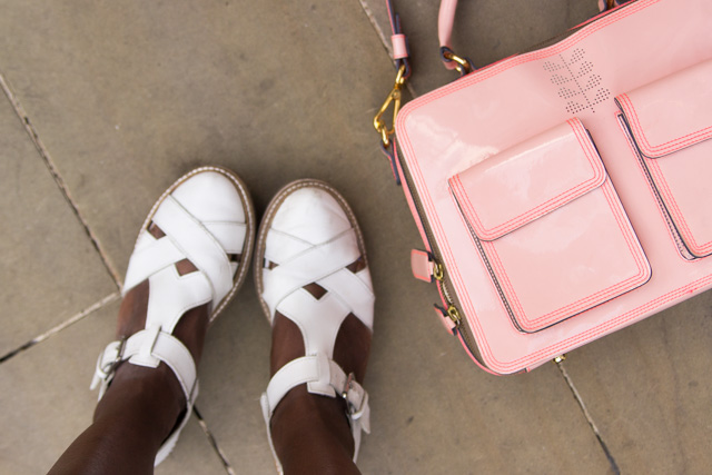 Orla Kiely pink bag Urban Outfitters hoes