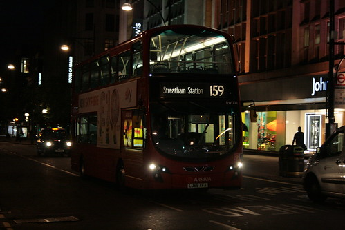 Arriva London DW231 on Route 159N, Oxford Street