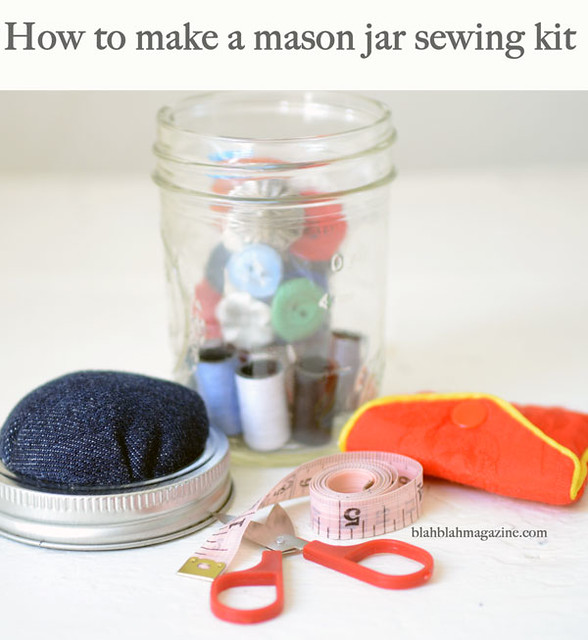 Upcycled gifts for kids Sewing-jar