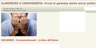 La notizia data in anteprima proprio da Casamassimaweb - Indagati l'ex sindaco Birardi e la giunta