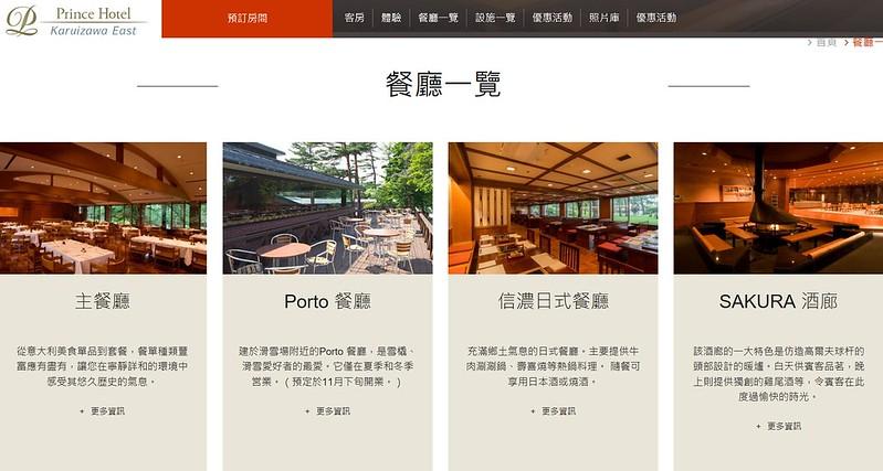 餐廳一覽表