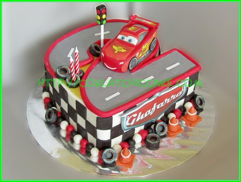 cake angka 2 cars