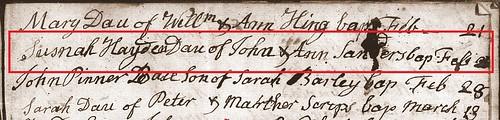 Susanna H Sanders bapt Braughing 1808