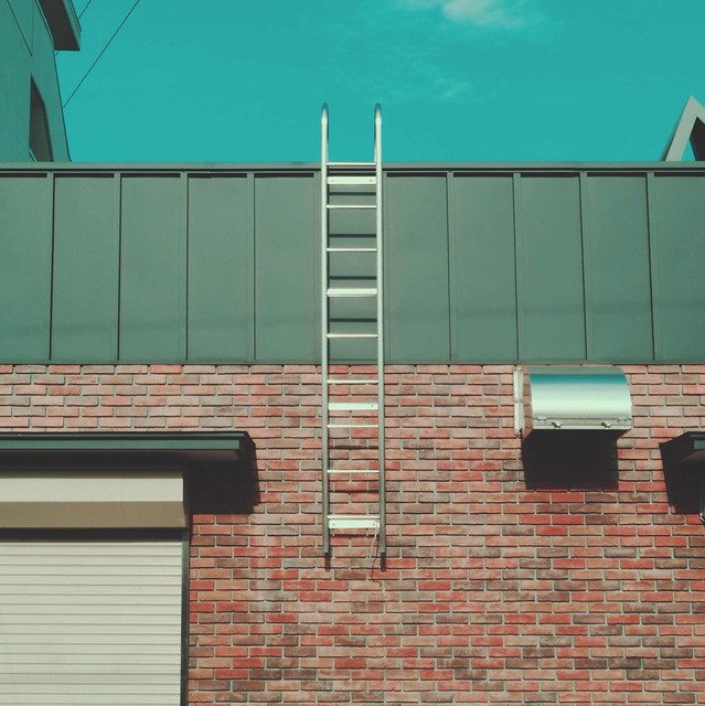 Fixed aluminum ladder