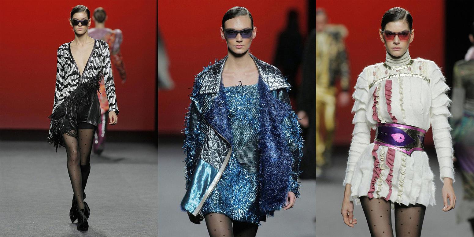 Striped T-Shirt Sequin skirt black blazer madrid fashion week street style fashion outfit04.jpg13