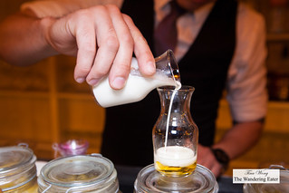 Mixing an infused heavy cream with Licor 43 | by thewanderingeater