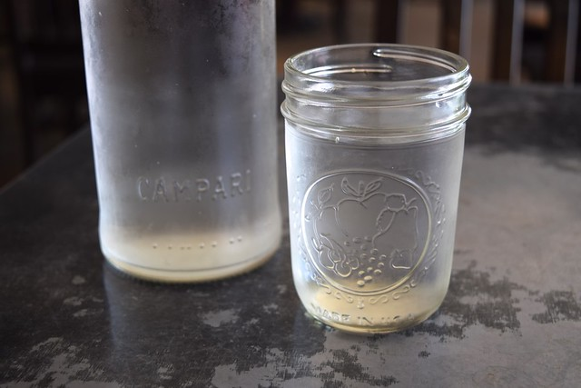 Jam Jar Water Glasses at Son of a Gun, West Hollywood
