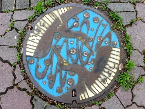 Miyoshi Hiroshima, manhole cover 2 (広島県三次市のマンホール2)