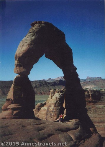 The first time we hiked to Delicate Arch in 1997, those 3 miles might as well have been 20 miles today. But, somehow, one step at a time, we made it! Arches National Park, Utah