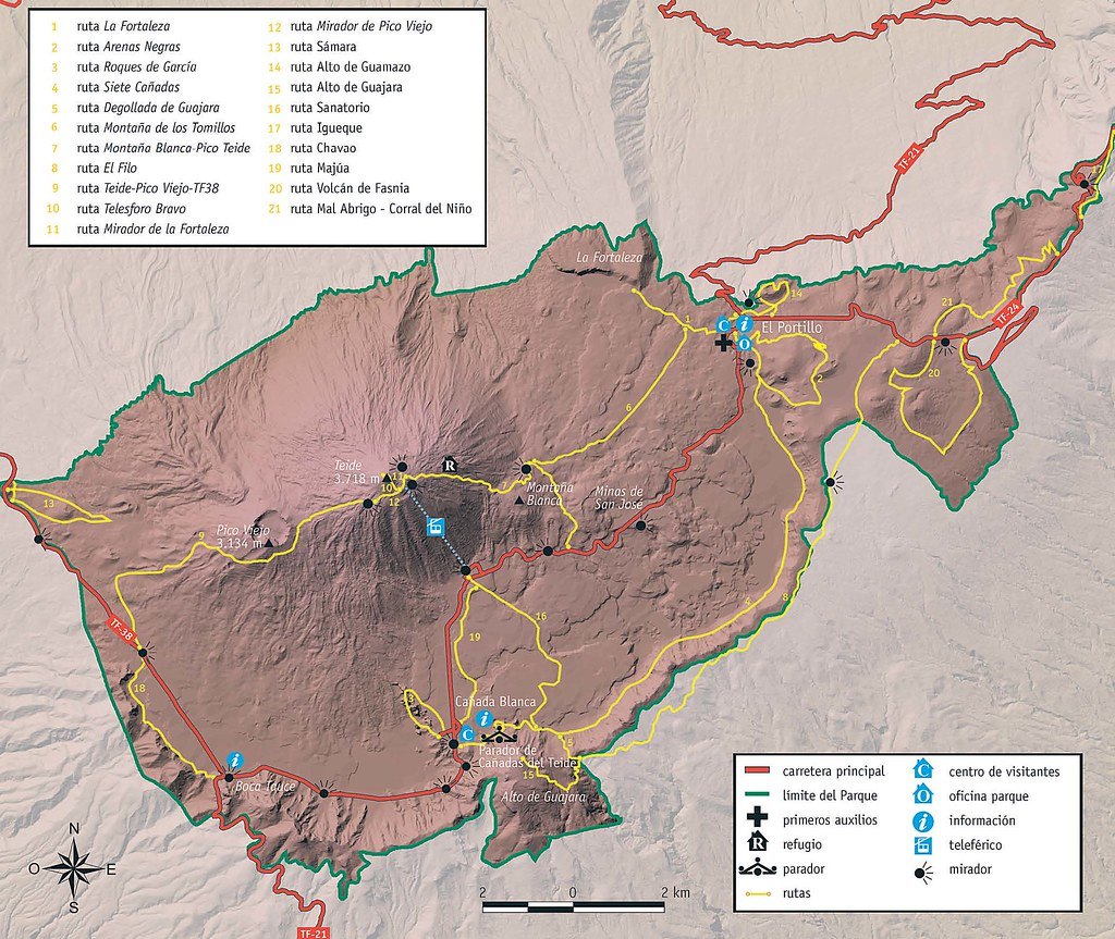 Mapa Teide Tenerife