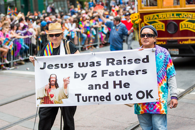 SF Pride 2015. Photo by Thomas Hawk via Flickr (creative commons)