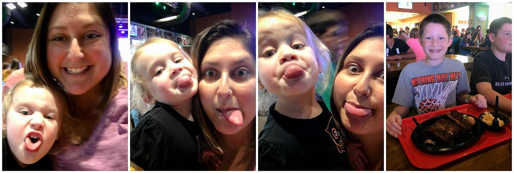 silly faces and lunch