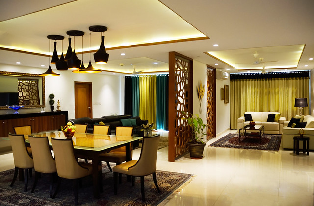 A sophisticated apartment in an upscale neighborhood in for Apartment interior design hyderabad