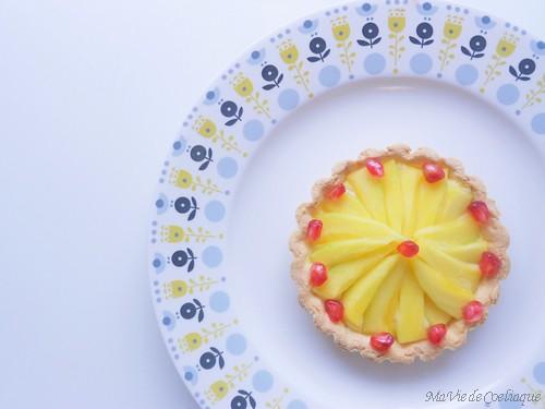 Tarte à la mangue sans gluten