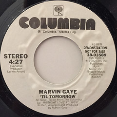 MARVIN GAYE:'TIL TOMORROW(LABEL SIDE-B)