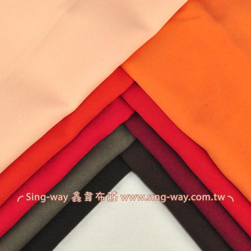 4C240023 紅色系 素面烏利斜紋布 5尺