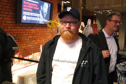 Petter Sætre, politisk nestleiar i Studentdemokratiet i Sørøst-Norge og fylkesrepresentant for Sjukepleiarforbundet Student i Telemark. Foto: Runar Mæland