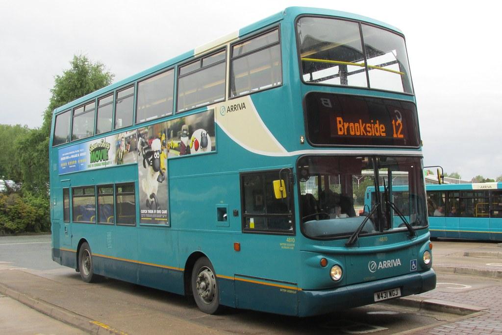 Arriva Midlands North Daf Db250lf Alexander Alx400 4810 W