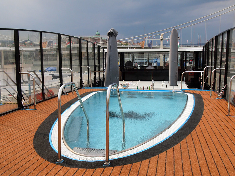 Swimming pool on the AmaPrima river cruise ship