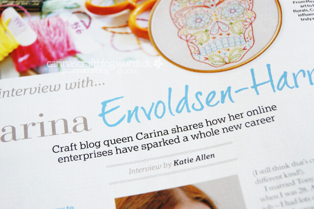 Interview in Cross Stitcher #293