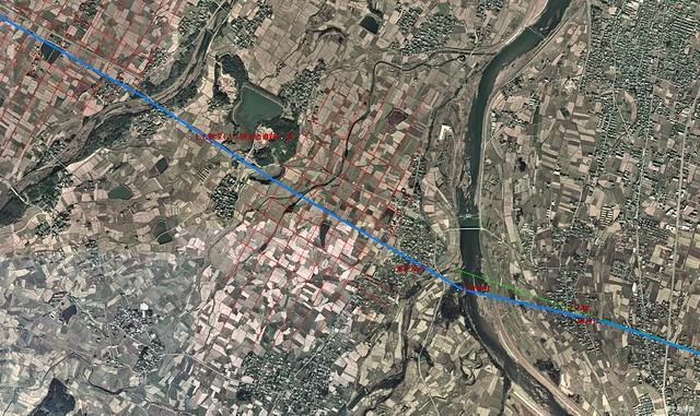 吉野ケ里_鳥の隈遺跡と条里地割(1974年航空写真)