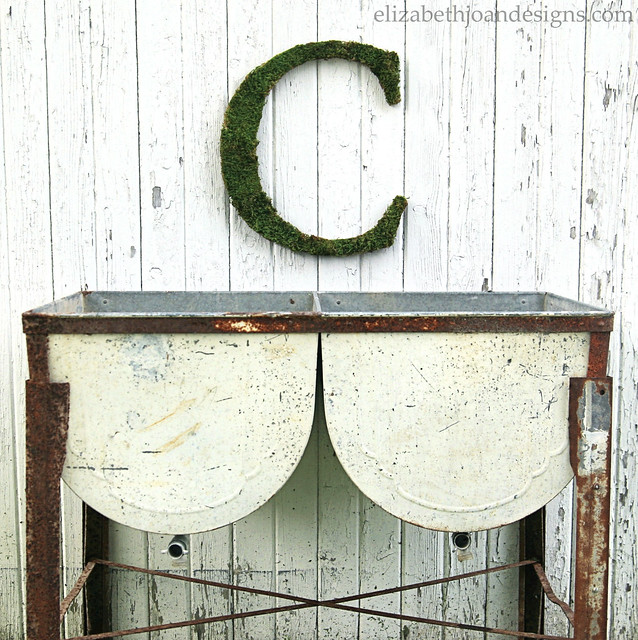 Moss Monogram Double Wash Tub
