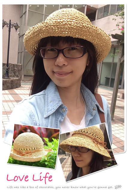 拉菲草捲邊帽