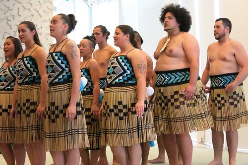 Te Pao o Tahu kapa haka group in performance