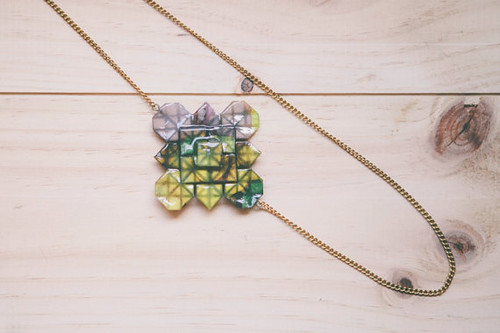 Geometric Origami Necklace by Little Ray of Sunshine