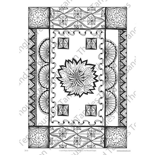 "Zentangle® Inspired Art Colouring Page - ""ZIA 42"""