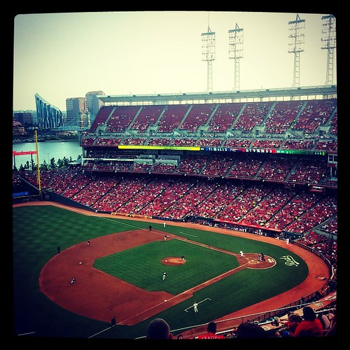 #Reds v. #Padres. It's our 14th #Reds baseball game of the season!
