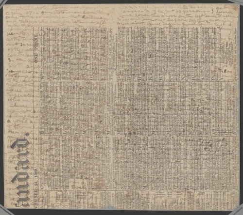1871 Field Diary Unreadable
