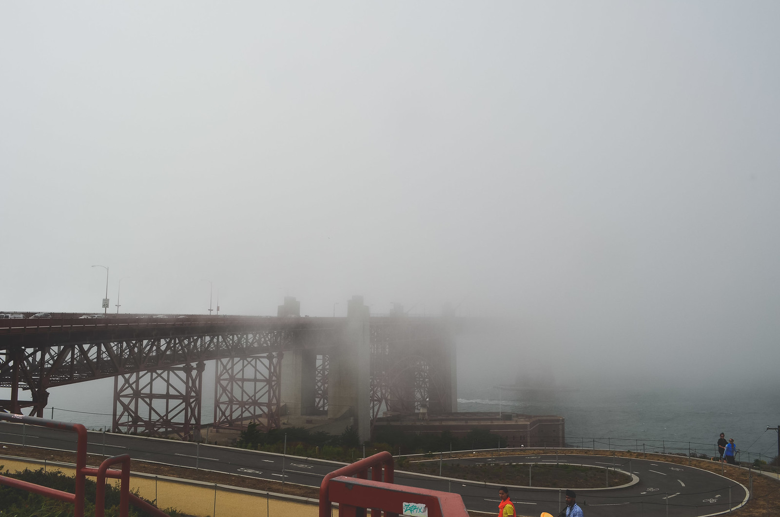 Fog + mysterious Golden Gate Bridge