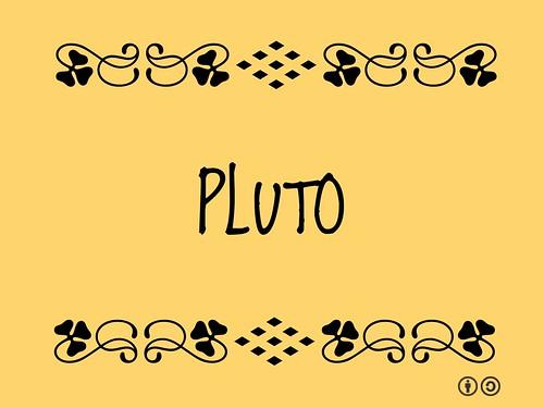 Buzzword Bingo: Pluto