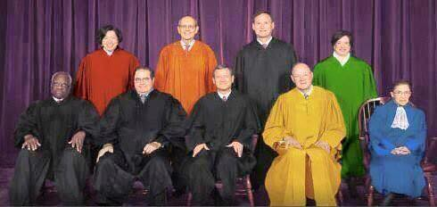 SCOTUS robes up - equal & not-equal
