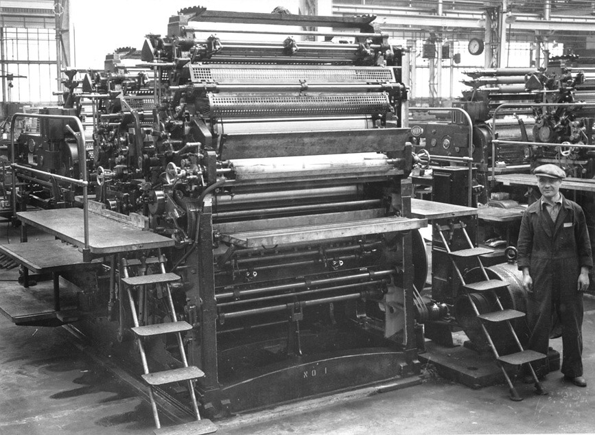 printing press manufactured by vickers armstrong view of a flickr