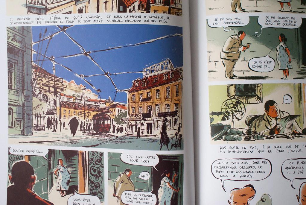 """BD ou roman graphique """"Peirera prétend"""" de Pierre-Henry Gomont."""