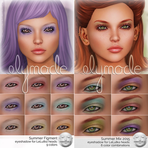 cosmetics for Lelutka mesh heads