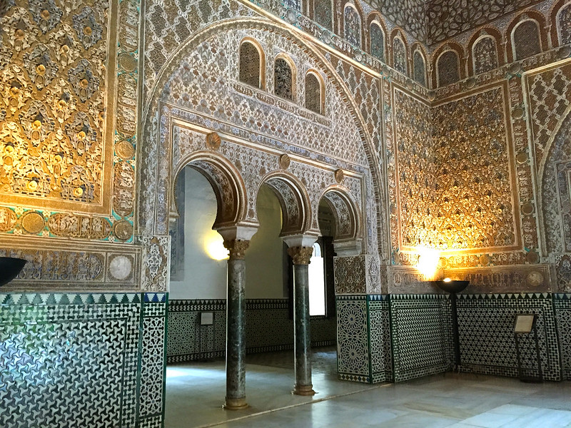 Inside the Royal Alcazar in Seville