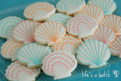 Seashell cookie assortment.