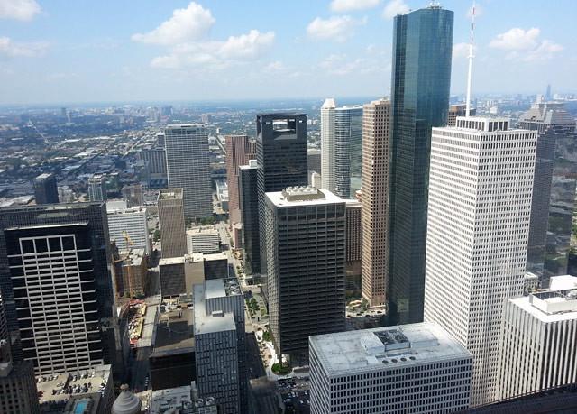 houston-skyline jp morgan chase tower observation deck