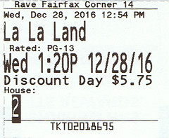 La La Land ticketstub